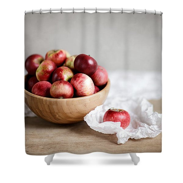 Red Apples Still Life Shower Curtain