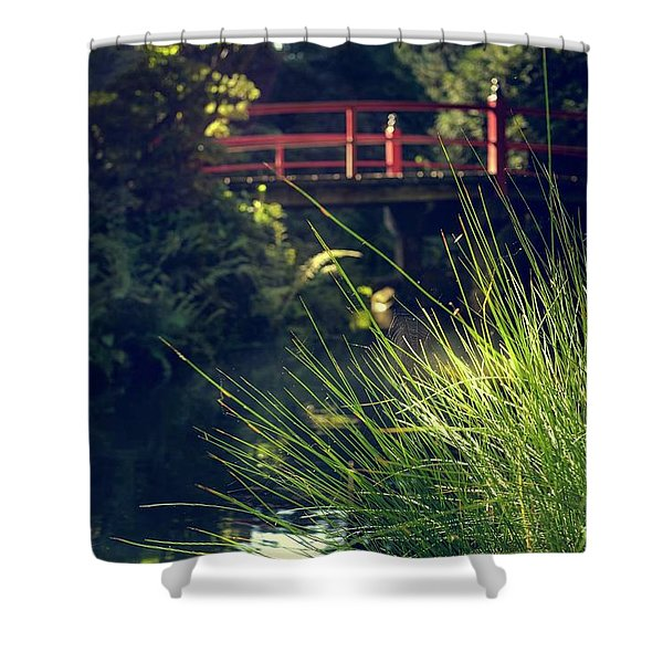 Red At Kubota Shower Curtain