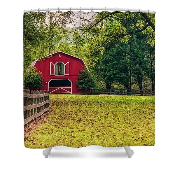 Red Barn 2 Shower Curtain
