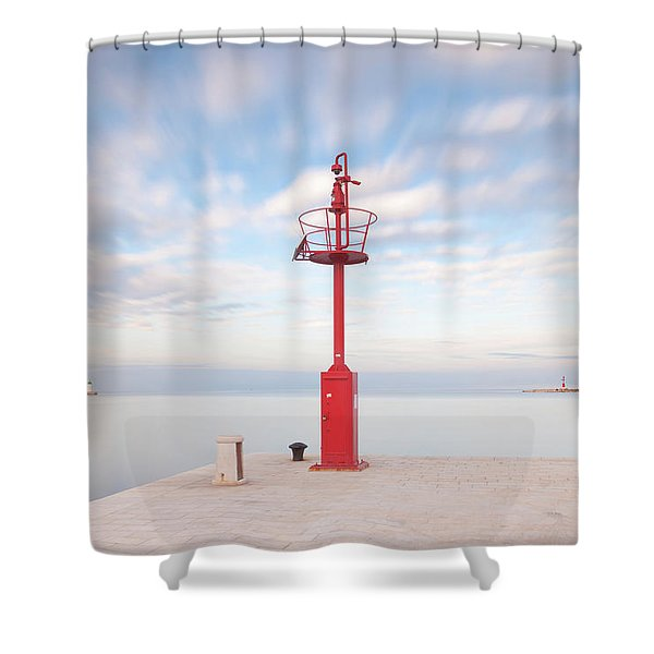 Red Beacon Shower Curtain