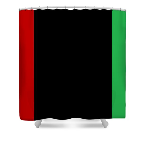 Red Black And Green Shower Curtain