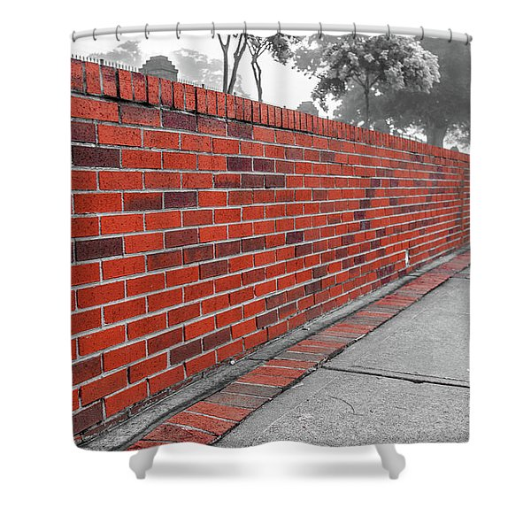 Red Brick Shower Curtain