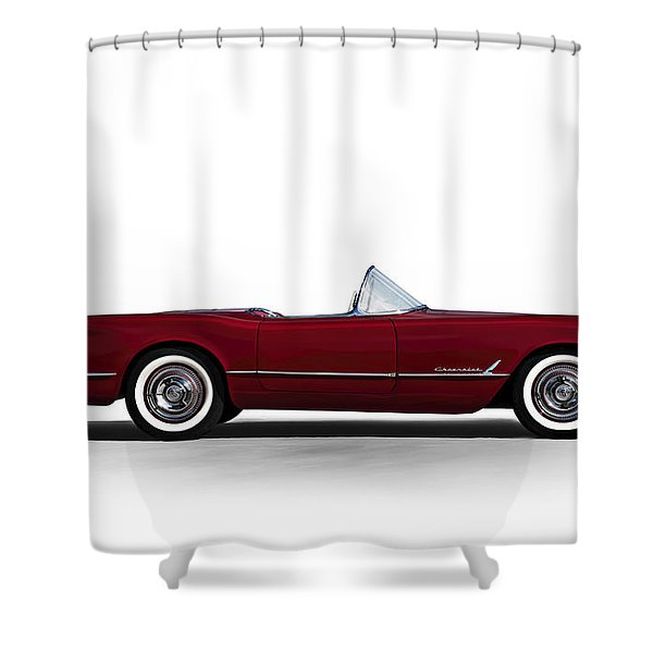 Red C1 Convertible Shower Curtain