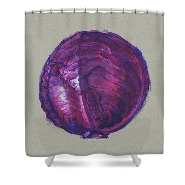 Red Cabbage Shower Curtain