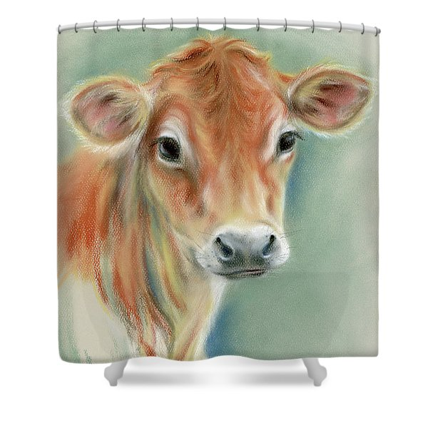 Red Calf Portrait Shower Curtain