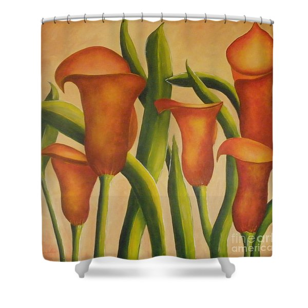 Red Callas Shower Curtain
