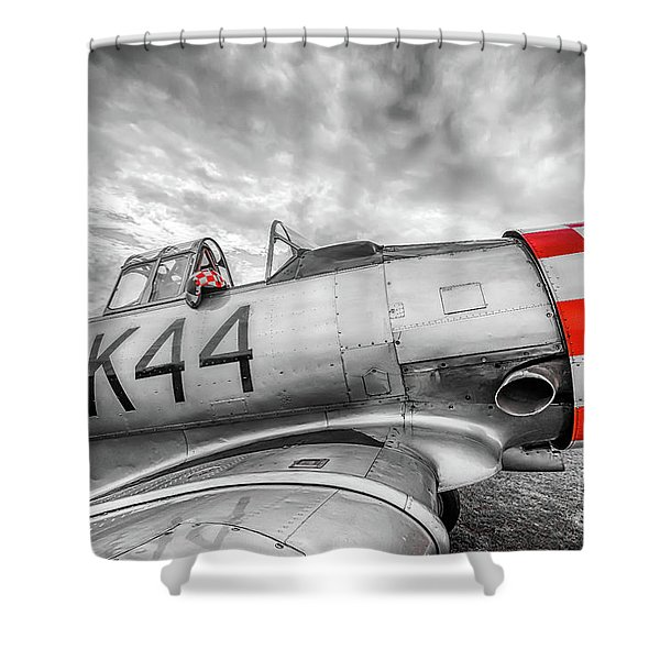 Red Checkers Shower Curtain