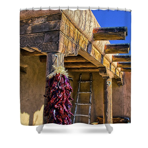 Red Chillies At New Years Shower Curtain