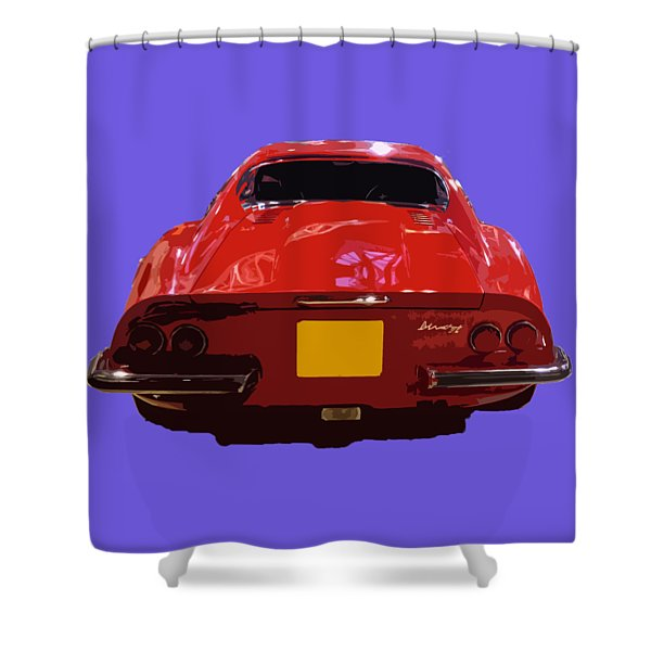 Red Classic Emd Shower Curtain