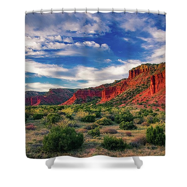Red Cliffs Of Caprock Canyon 2 Shower Curtain