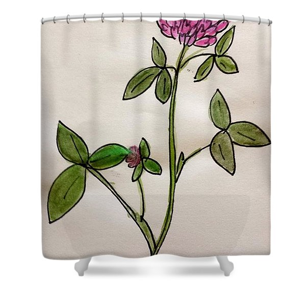 Red Clover Blossom Shower Curtain