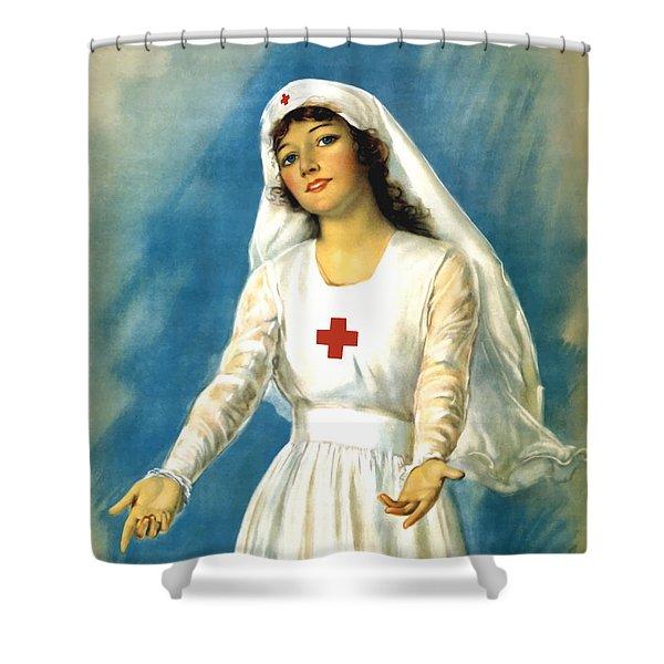 Red Cross Nurse - Ww1 Shower Curtain