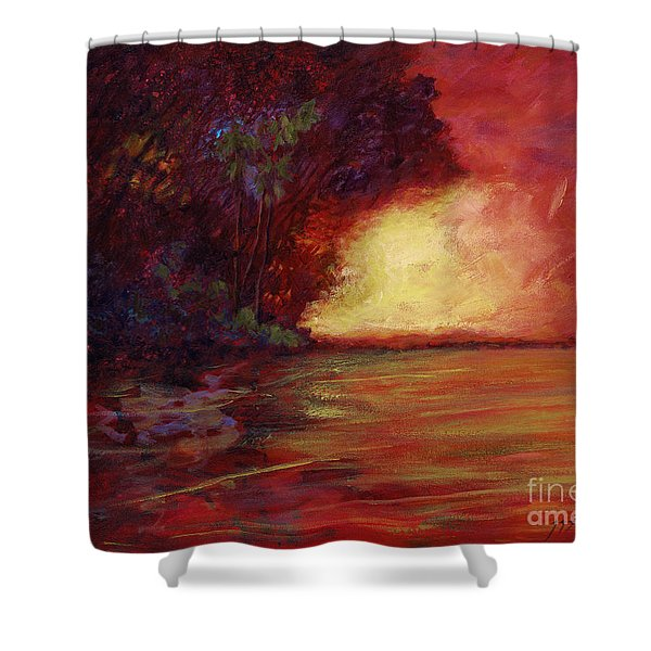 Red Dusk Shower Curtain