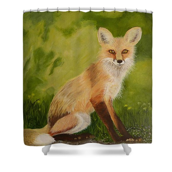 Red Fox 1 Shower Curtain