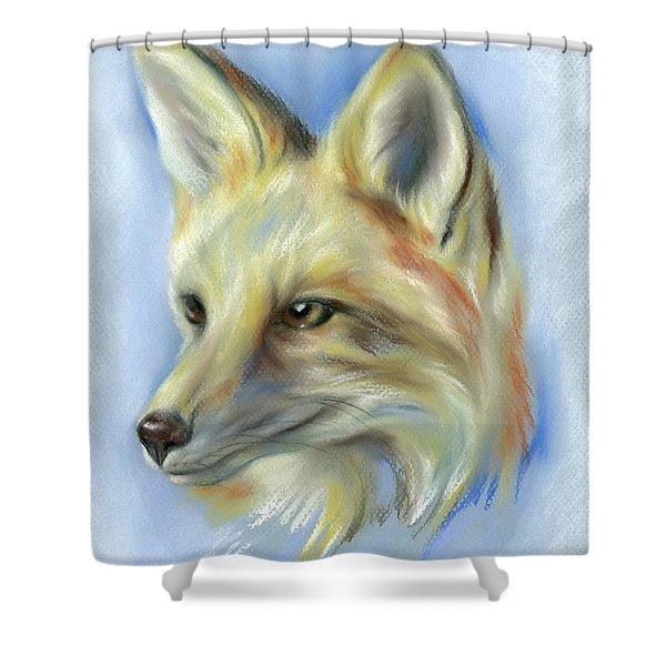 Red Fox Portrait Shower Curtain