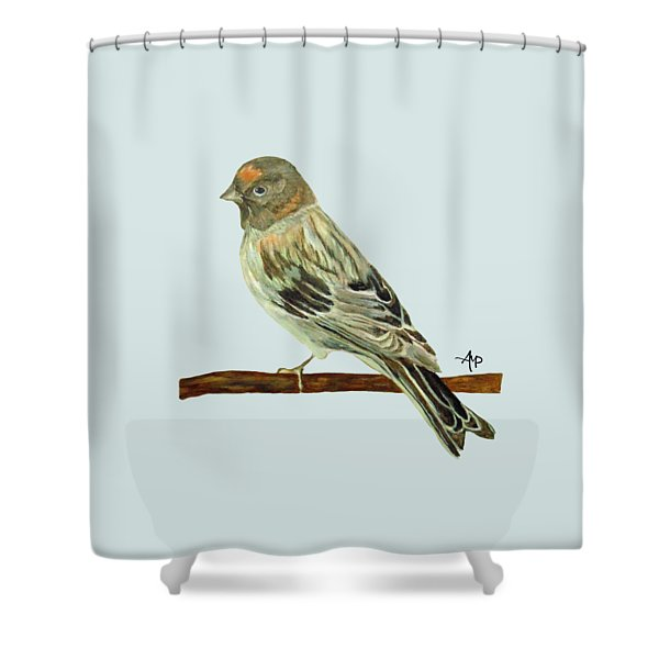 Red-fronted Serin Shower Curtain