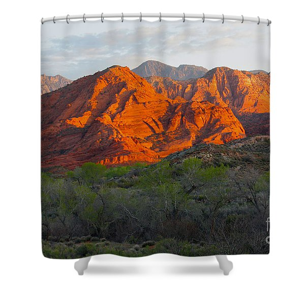 Red Hills Shower Curtain