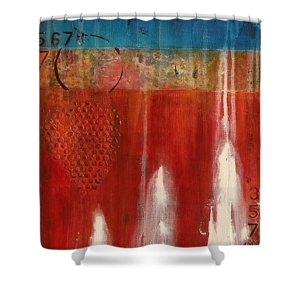 Red Holiday Shower Curtain