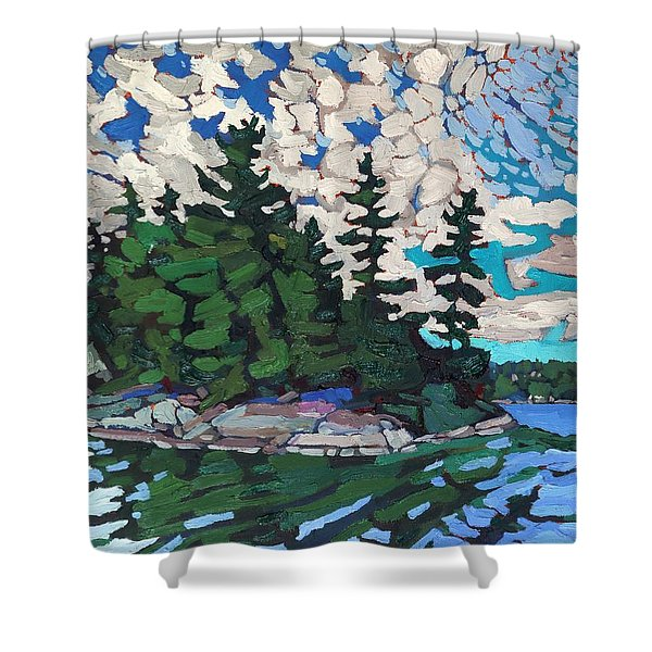 Red Horse Paradise Shower Curtain