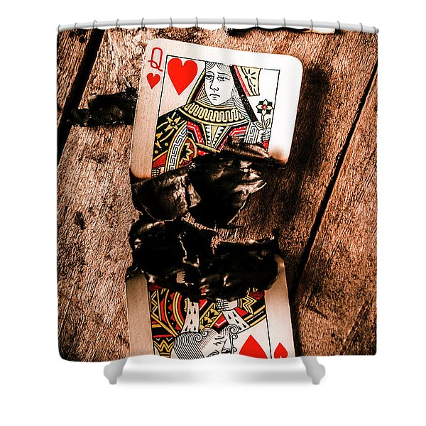 Red Hot Blackjack Shower Curtain