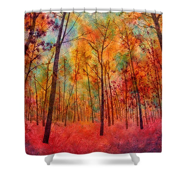Red Hue Shower Curtain