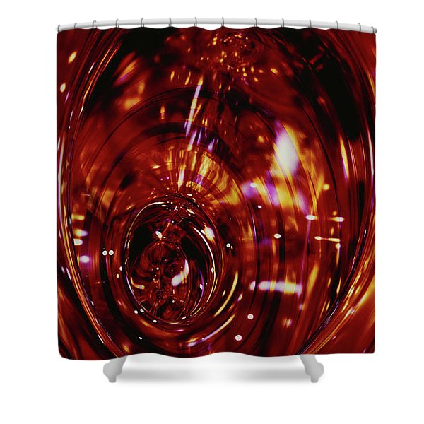 Red Inside Shower Curtain