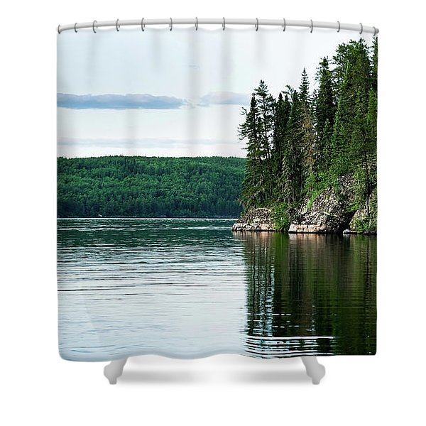 Red Lake Ontario Shower Curtain