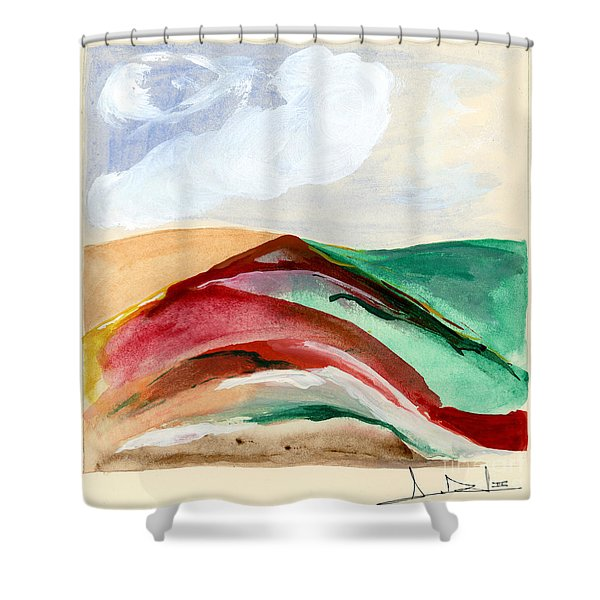 Red Mountain Dawn Shower Curtain