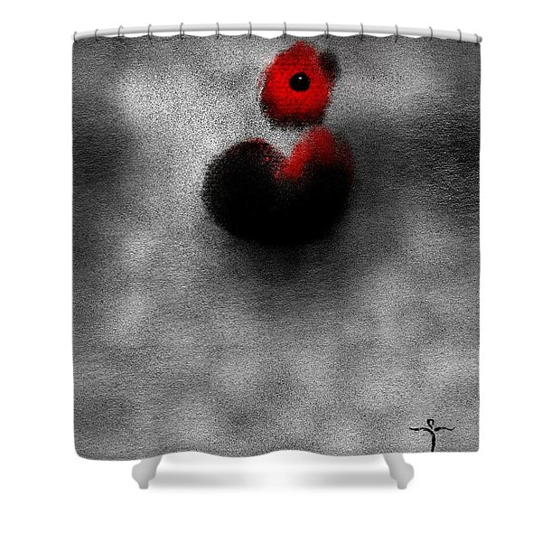 Red Mouse Shower Curtain