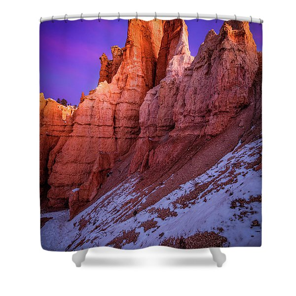 Red Peaks Shower Curtain