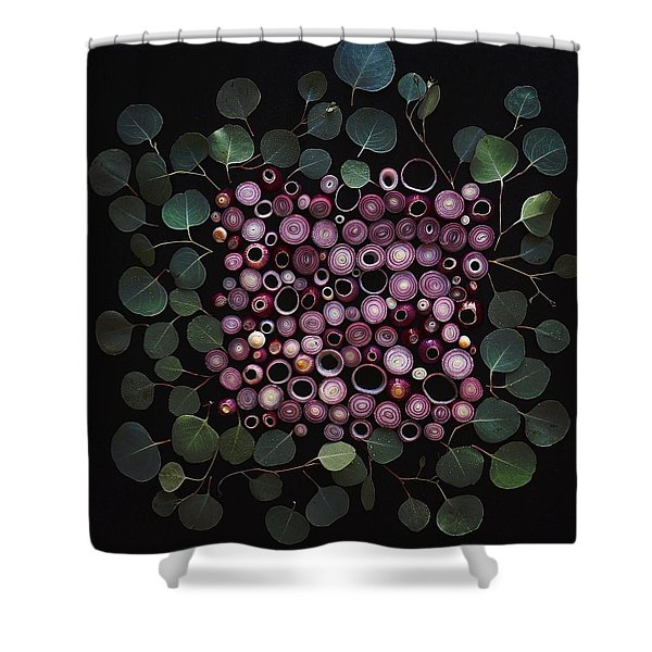 Red Pearl Onions Shower Curtain