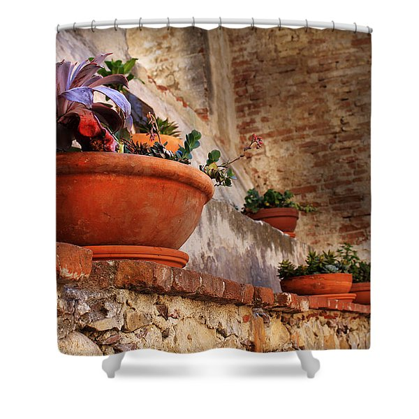 Red Pot Shower Curtain