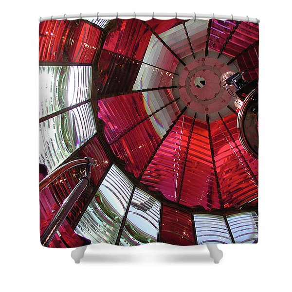 Red Reflections Shower Curtain