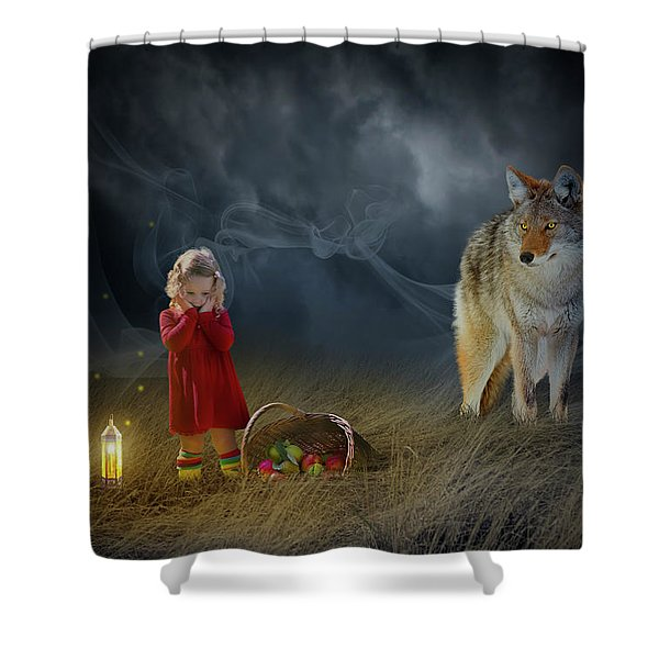 Red Riding Hood V2 Shower Curtain