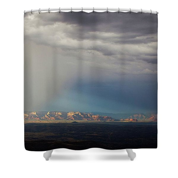 Red Rock Monsoon Shower Curtain