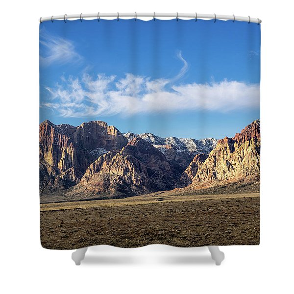Red Rock Morning Shower Curtain