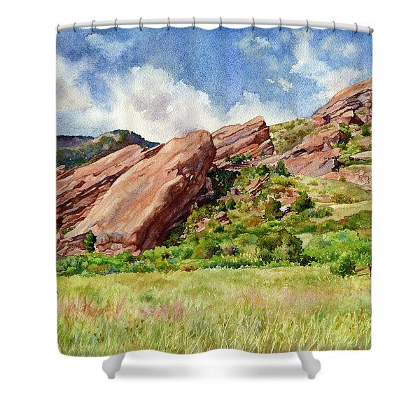 Red Rocks Amphitheatre Shower Curtain