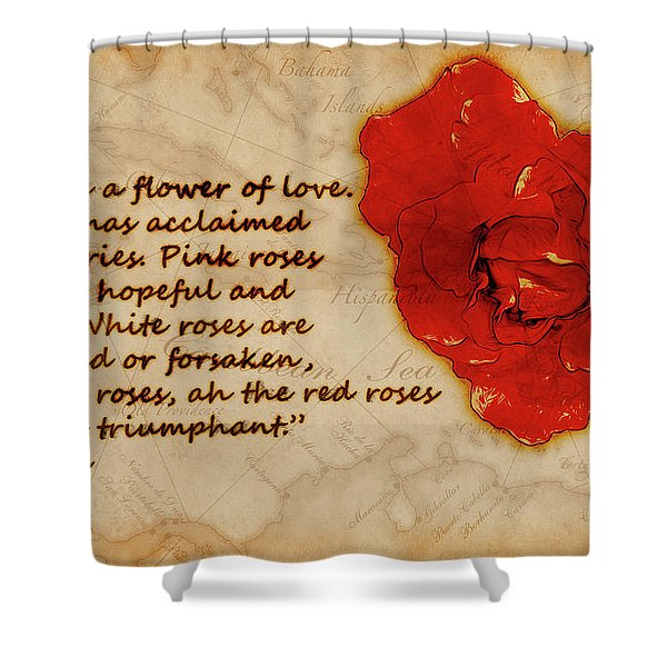Red Rose Significance Shower Curtain