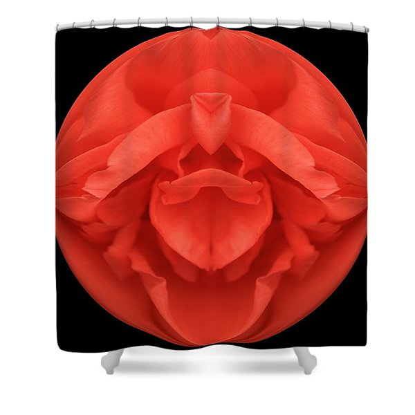 Red Rose Sphere Shower Curtain