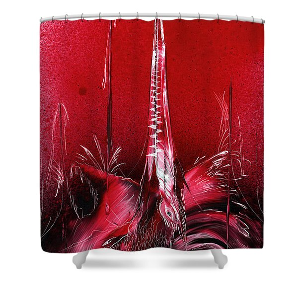 Red Sea Creature Shower Curtain