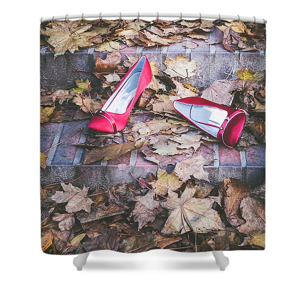 Red Shoes Shower Curtain