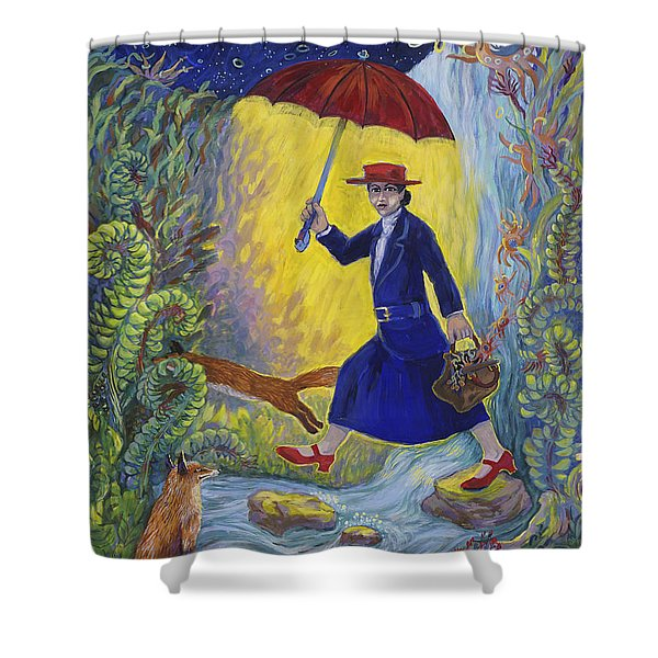 Red Shoes Mary Poppins Shower Curtain
