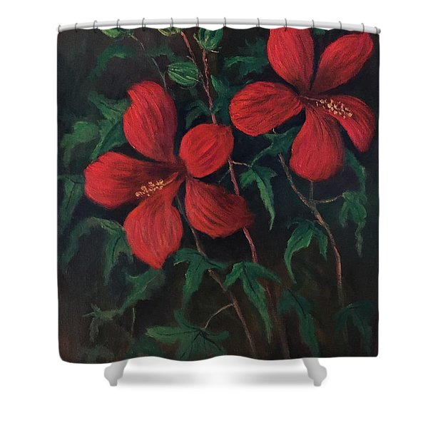 Red Soldiers Shower Curtain