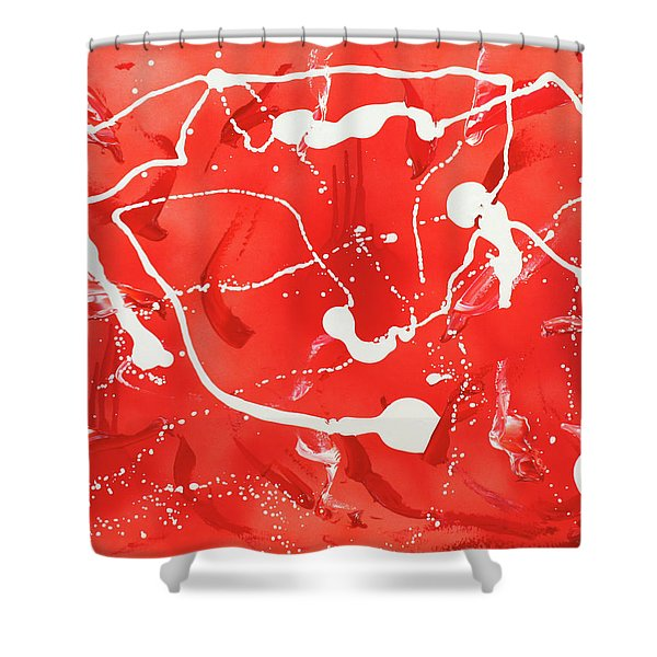 Red Spill Shower Curtain
