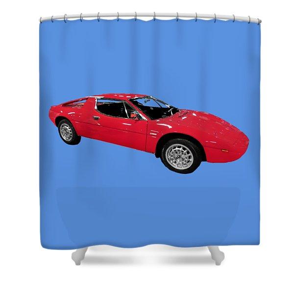Red Sport Car Art Shower Curtain