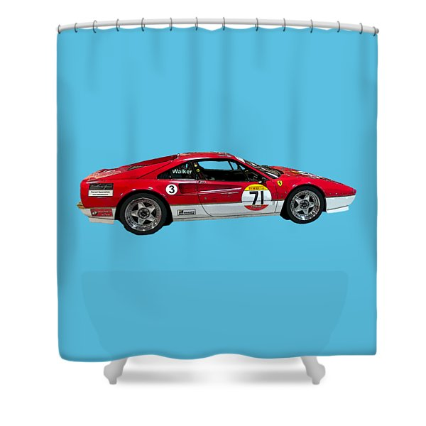 Red Sports Racer Art Shower Curtain