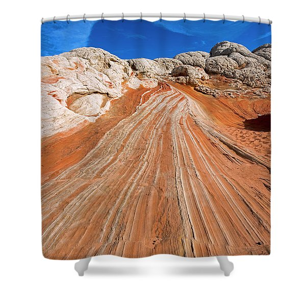 Red Stone Highway Shower Curtain