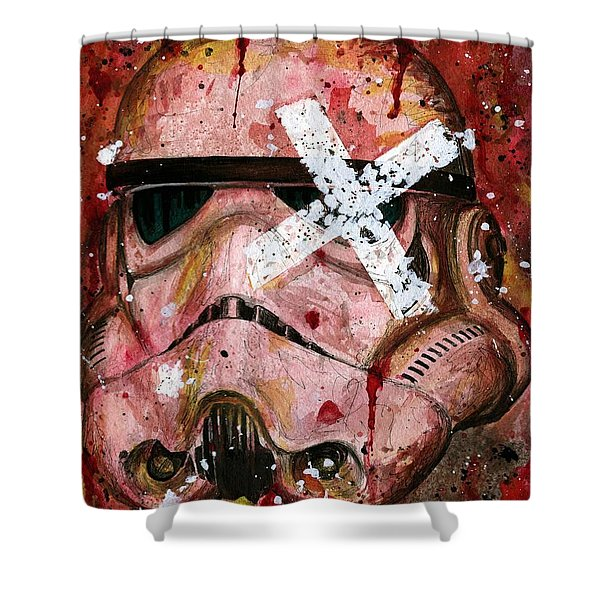 Red Stormtrooper Shower Curtain