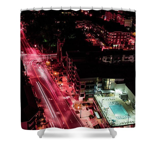 Red Streets Shower Curtain