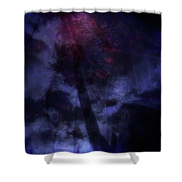 Red Stretch Shower Curtain